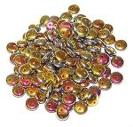 7.5 Grams of Czech 2-Hole 6mm Lentil Beads - Jet Full Marea